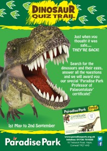 Dinosaur Quiz Poster at Paradise Park