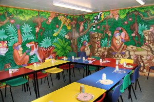 Jungle Birthday Party Room