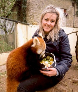 Alex Rooney with Red Panda Paradise Park