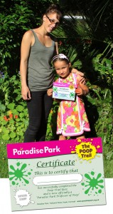 Lucy & her Poop Trail Certificate at Paradise Park 2