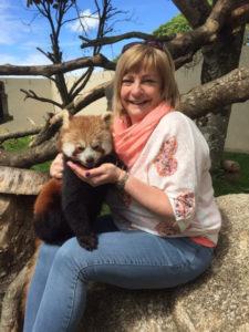 Sandra Elmore at the Red Panda Experience
