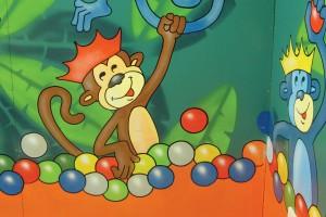 Monkey themed Birthday Party Room