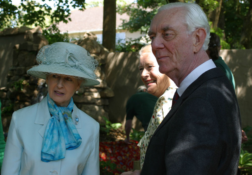 Mike and Audrey Reynold's with HRH Princess Alexandra on her visit to celebrate Paradise Park's 30th year