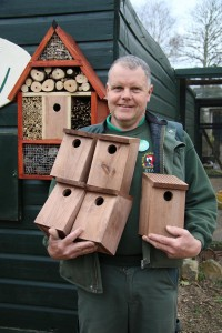 Putting out nest boxes