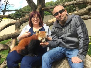Emma and Kevin meet the Red Pandas