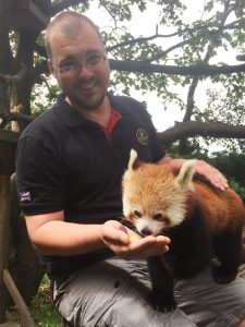 Graeme Johnston meets the Red Pandas at Paradise Park