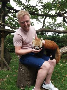 Sam Seymour meets the Red Pandas at Paradise Park