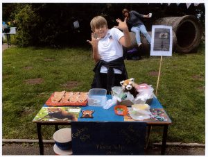 Alex fundraiisng at Seascale School
