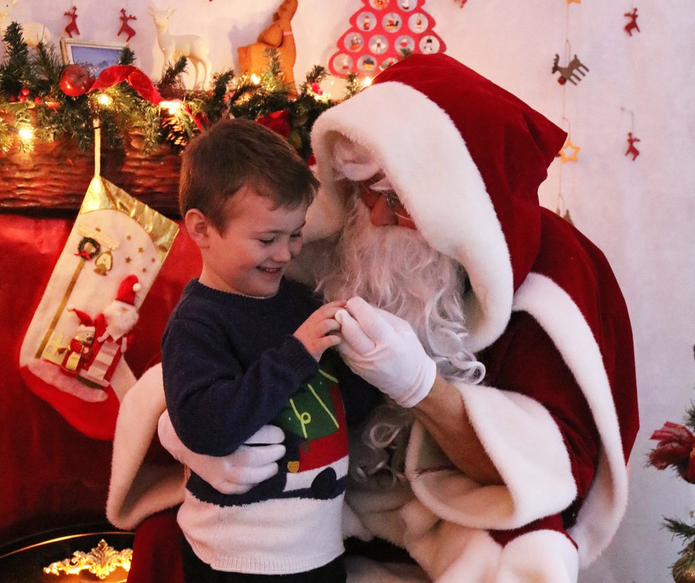 Ben visiting Santa's Grotto
