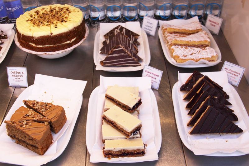 Homemade cakes in the Otter Pool Cafe