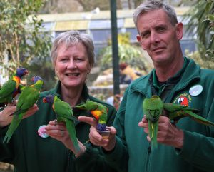 Paradise Park Directors Alison Hales & Nick Reynolds celebrating the Parks 45th Birthday April 2018