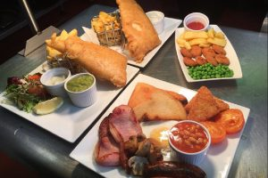 Food at the Bird In Hand Hayle