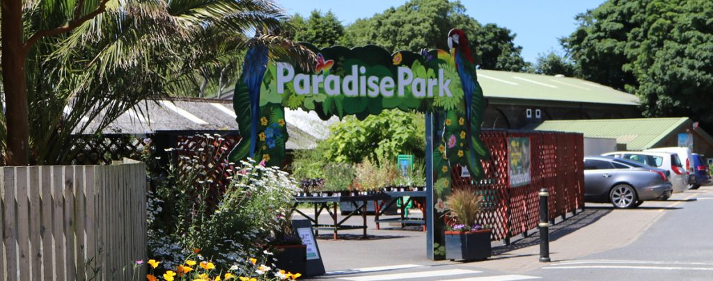 Paradise Park in Hayle, Cornwall entrance