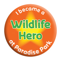 Wildlife Hero Badge Paradise Park Cornwall