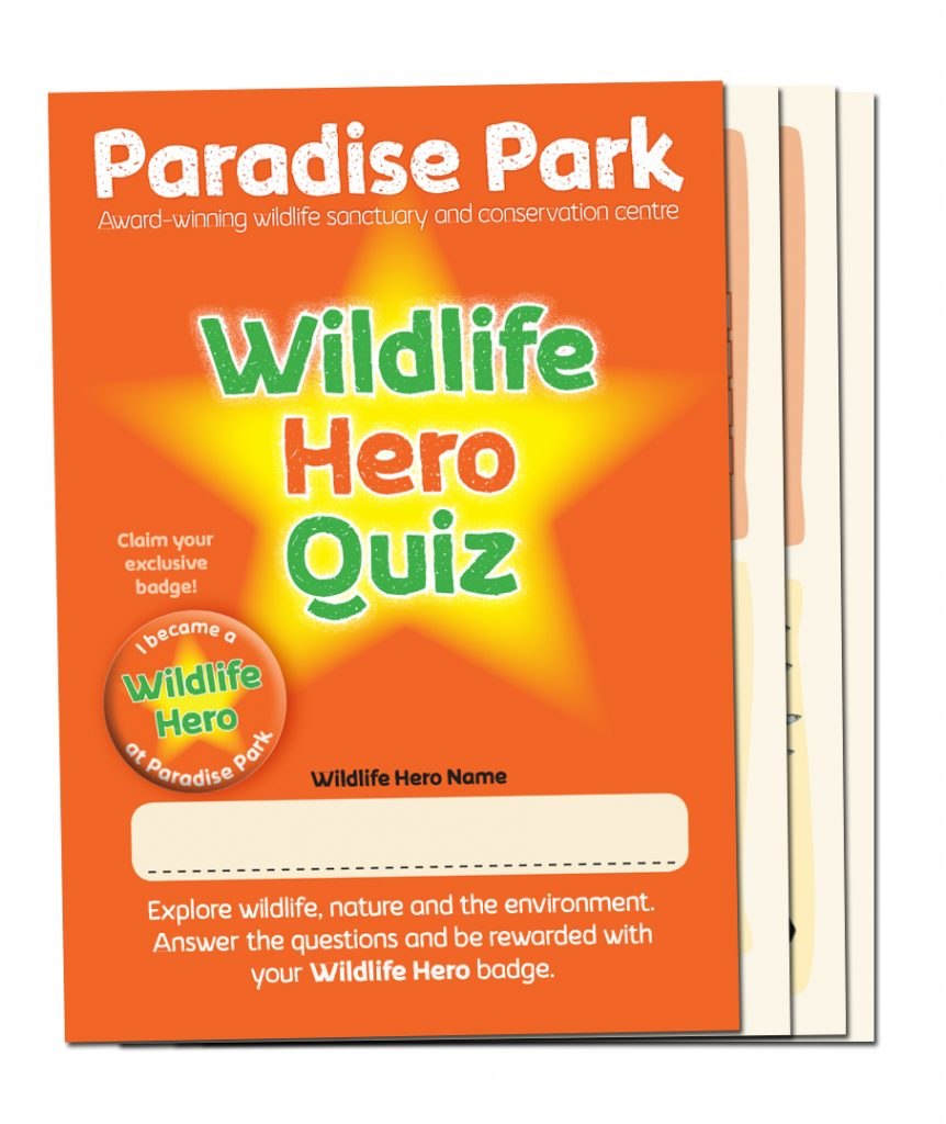 Wildlife Hero Quiz Booklet - Paradise Park Cornwall