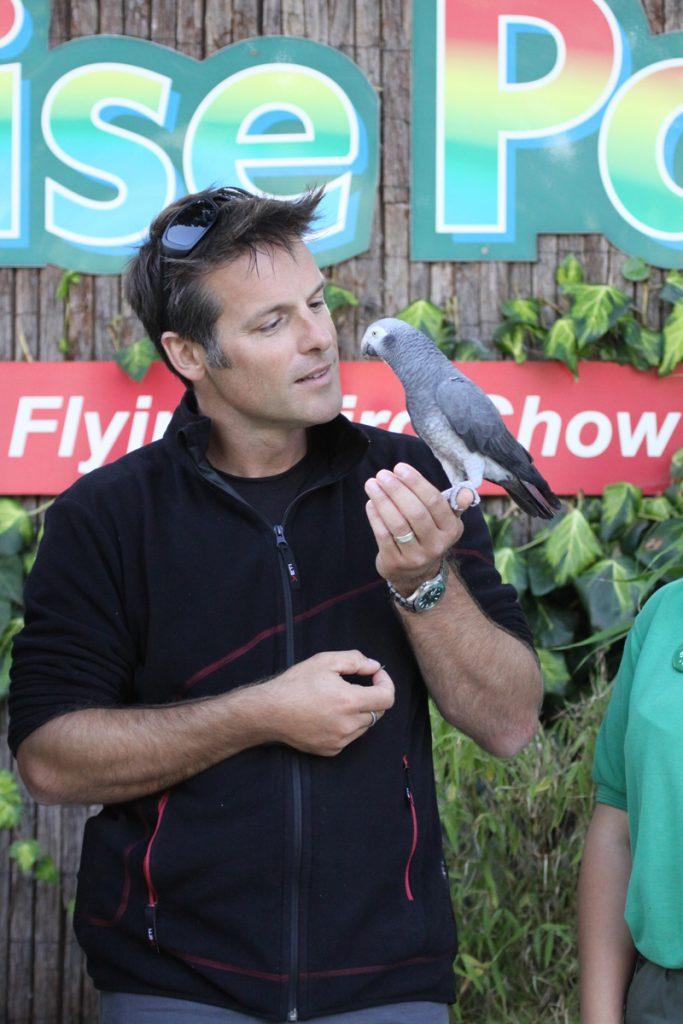 Thomas and Nick Baker at Paradise Park Cornwall