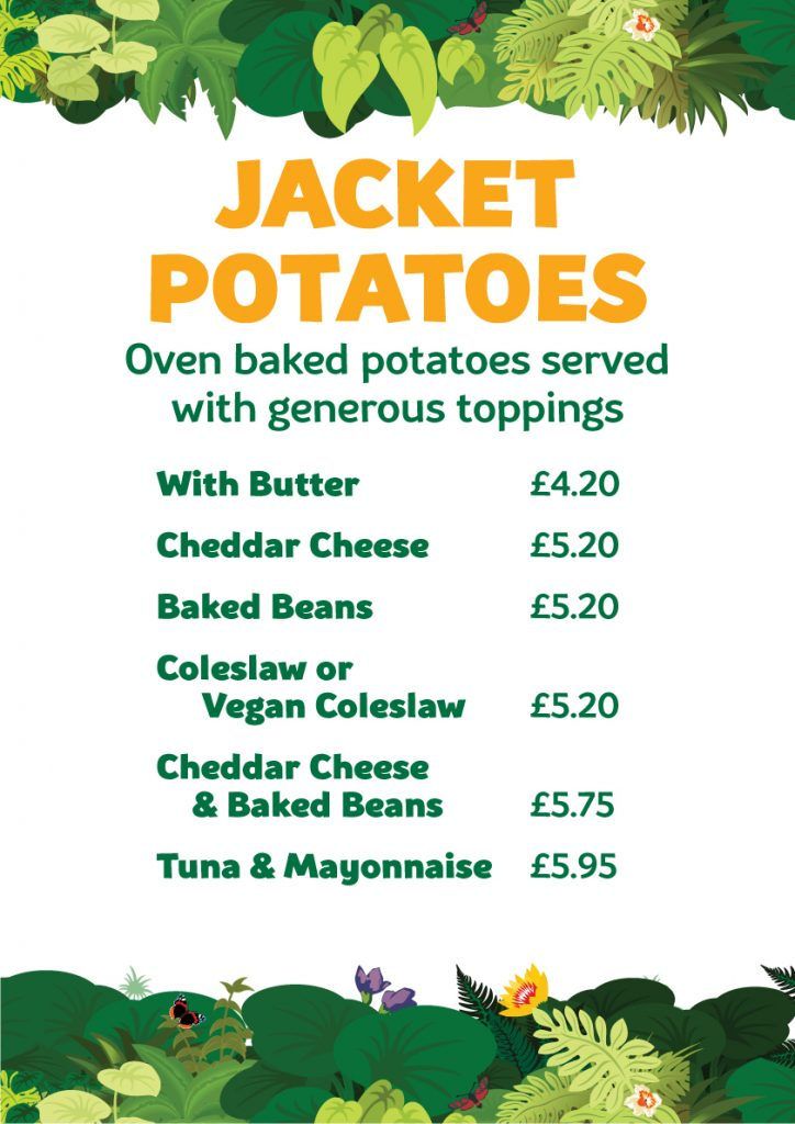Cafe Jacket potatoes 2021
