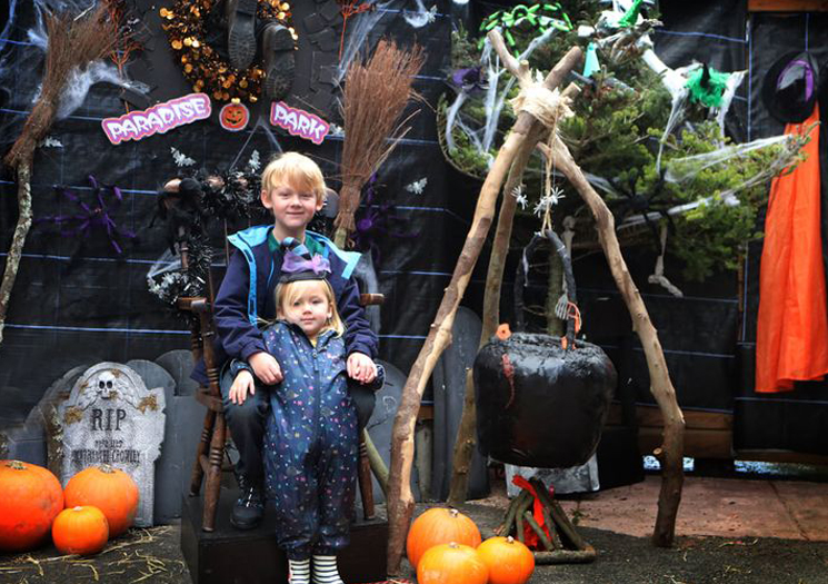 Halloween at Paradise Park in Cornwall