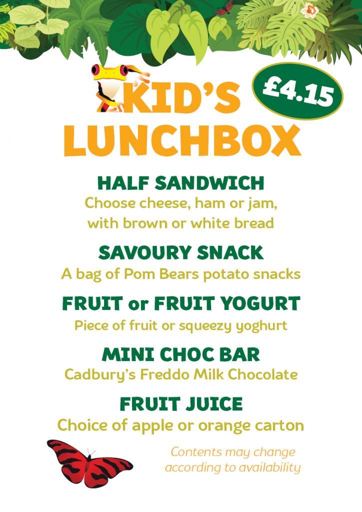 Kids Lunchbox Menu